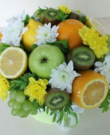 Коробка с цветами в омске