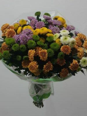 Цветы кустовой хризантемы купить в Омске